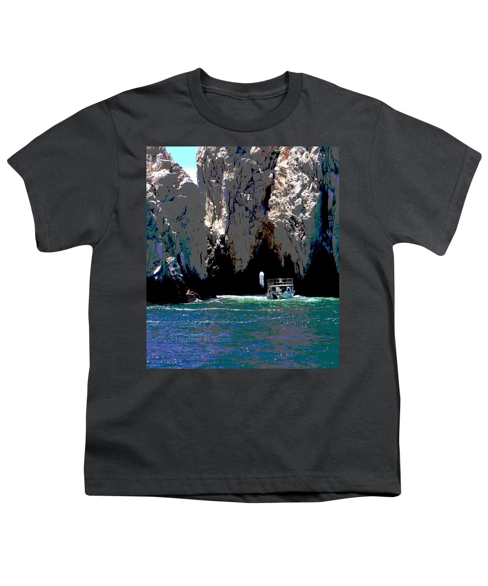 Mexico Youth T-Shirt featuring the photograph The Keyhole Mexico Cabo San Lucas by Heather Coen