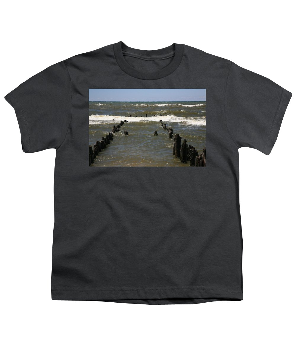 Sand Surf Youth T-Shirt featuring the photograph The Last Wooden Pier by Robert Pearson