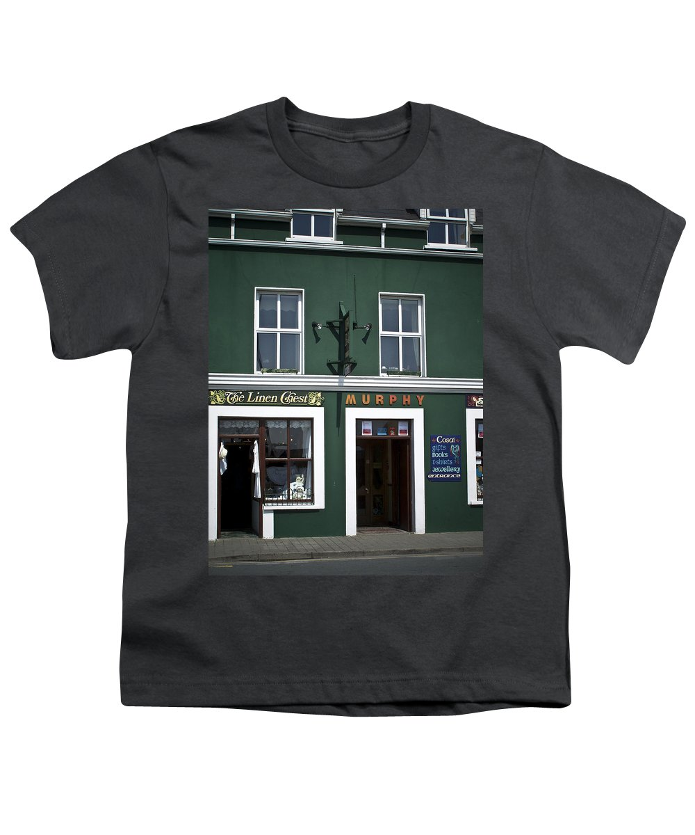 Irish Youth T-Shirt featuring the photograph The Linen Chest Dingle Ireland by Teresa Mucha
