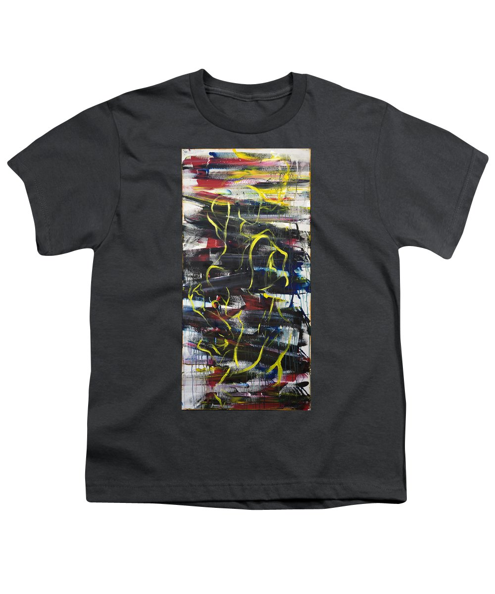 Black Youth T-Shirt featuring the painting The Noose by Sheridan Furrer