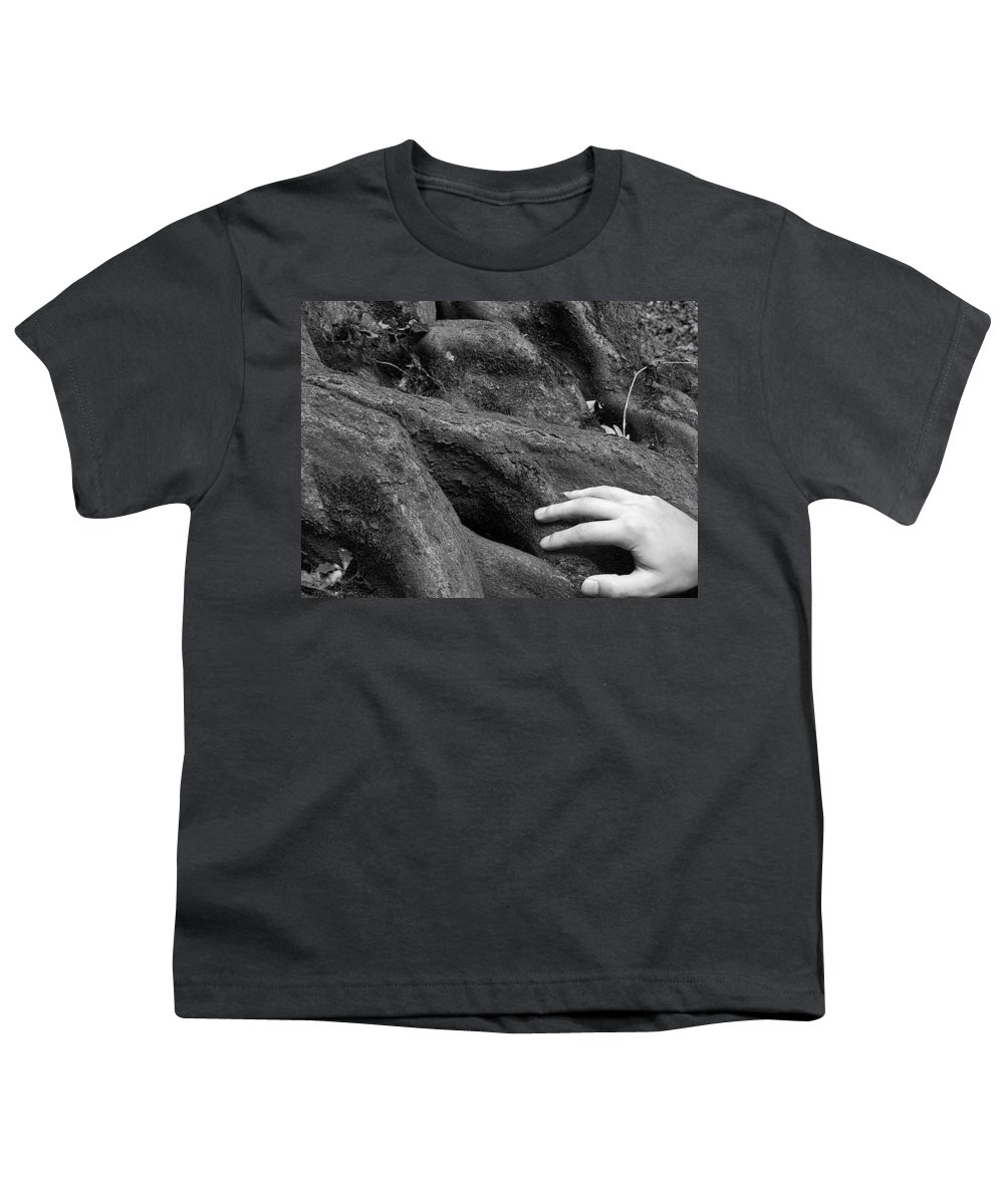Nature Youth T-Shirt featuring the photograph The Roots by Daniel Csoka