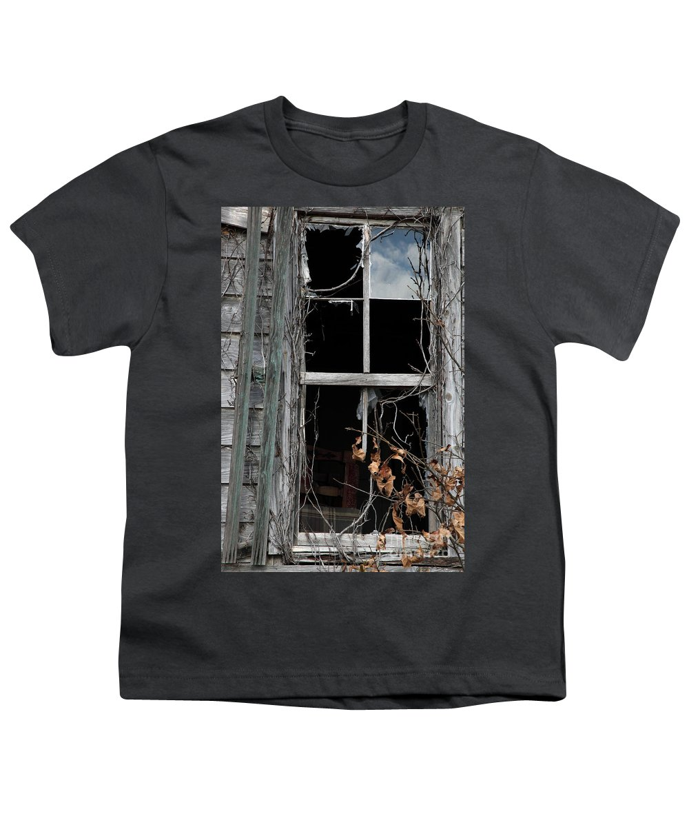 Windows Youth T-Shirt featuring the photograph The Window by Amanda Barcon