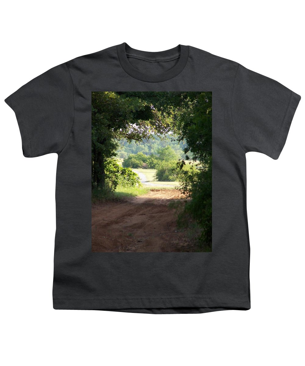 Woods Youth T-Shirt featuring the photograph Through The Woods by Gale Cochran-Smith