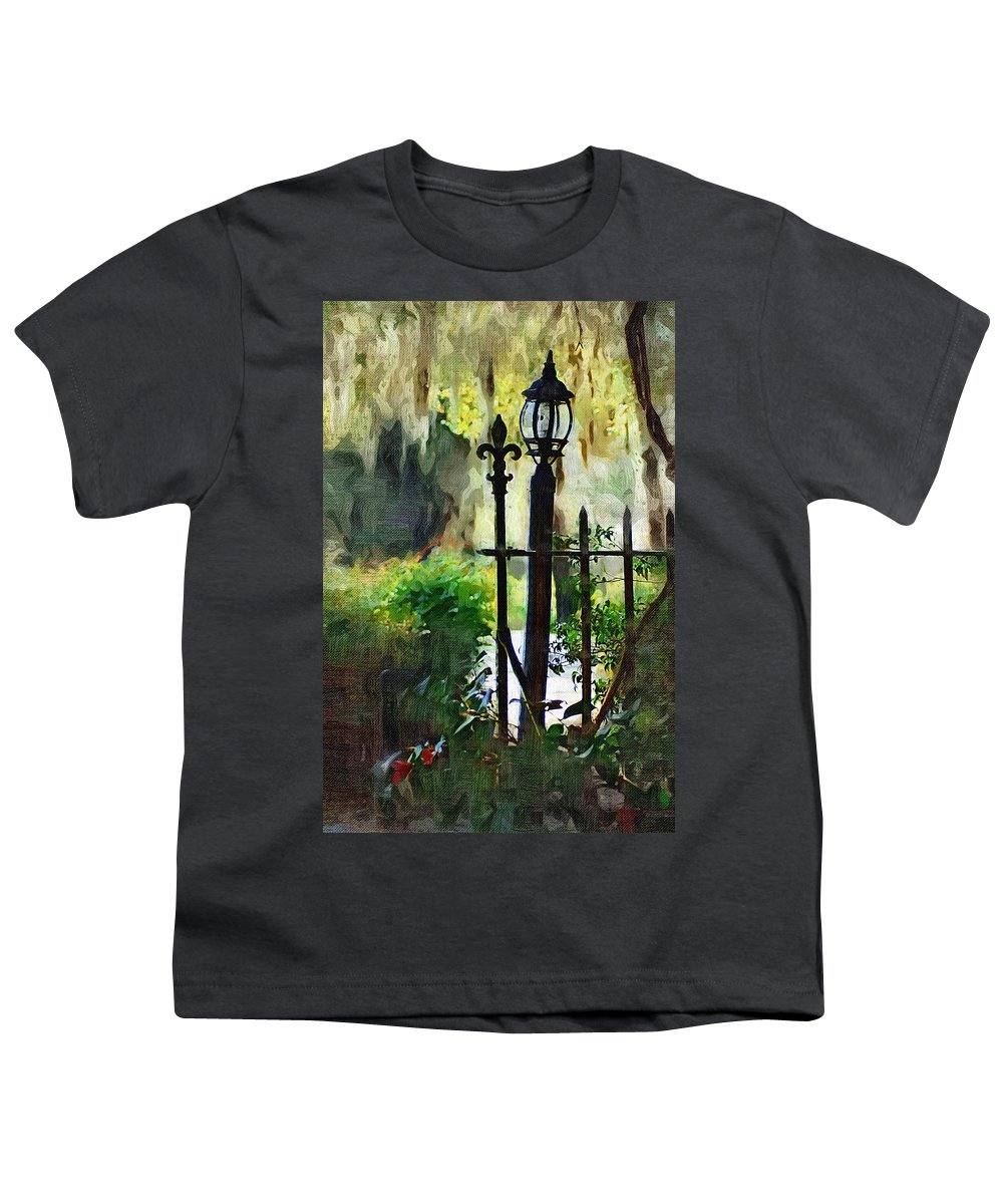 Gate Youth T-Shirt featuring the digital art Thru The Gate by Donna Bentley