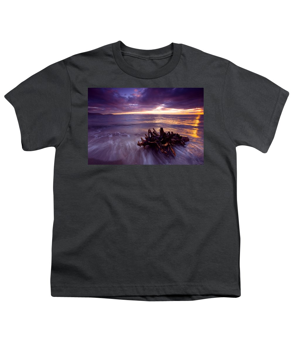 Sunset Youth T-Shirt featuring the photograph Tide Driven by Mike Dawson