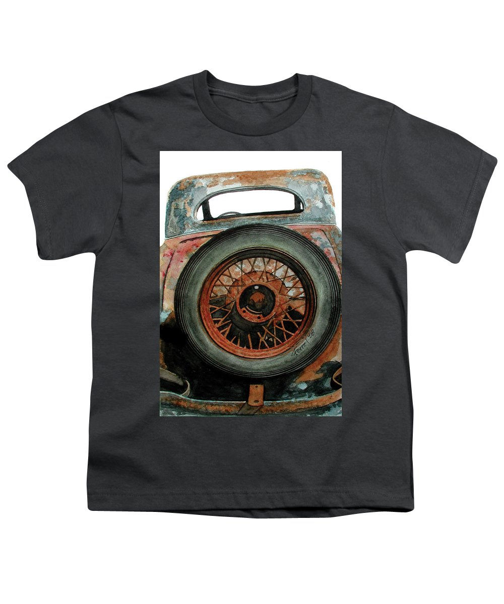 Car Youth T-Shirt featuring the painting Tired by Ferrel Cordle