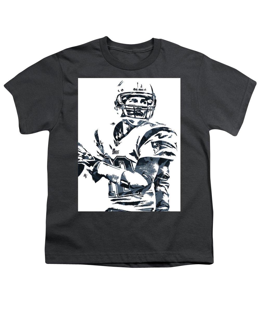 100% authentic 71ae2 b39d9 Tom Brady New England Patriots Pixel Art 7 Youth T-Shirt