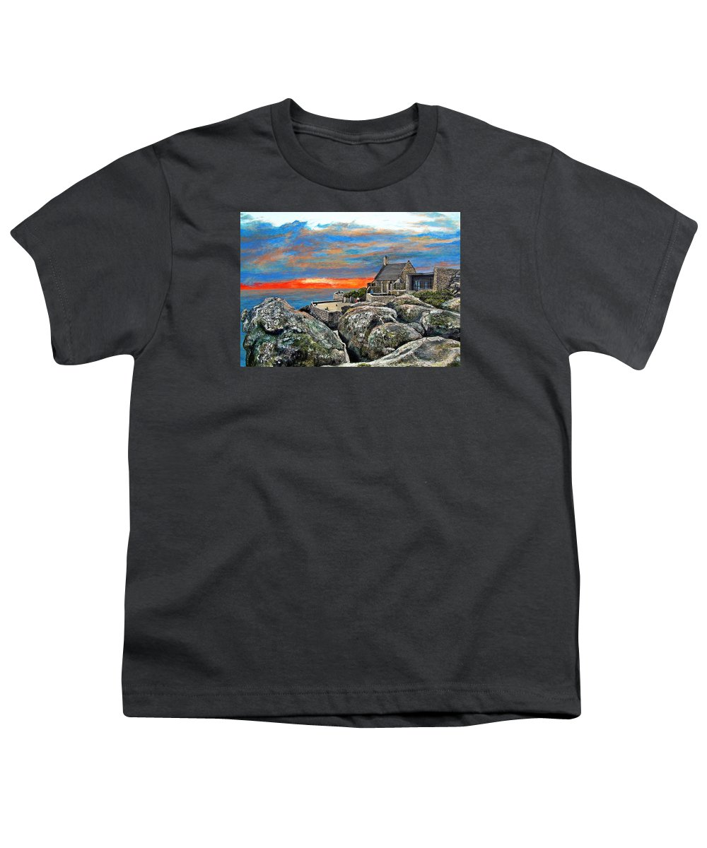 Sunset Youth T-Shirt featuring the painting Top Of Table Mountain by Michael Durst