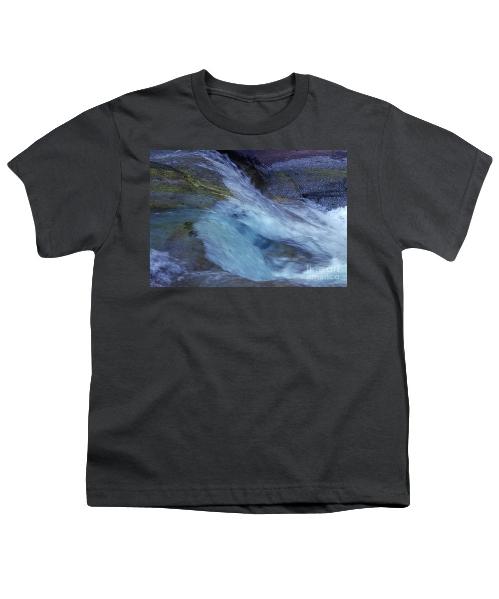 Nature Youth T-Shirt featuring the photograph Tropical Flowing Waters by Kerryn Madsen- Pietsch
