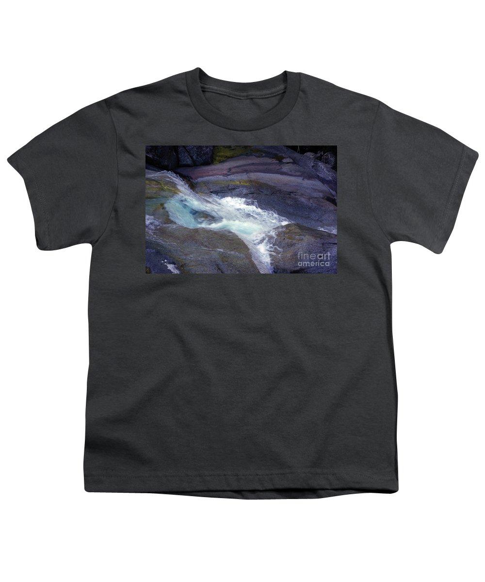 Flowing Youth T-Shirt featuring the photograph Tropical Water Bird Josephine Falls by Kerryn Madsen- Pietsch