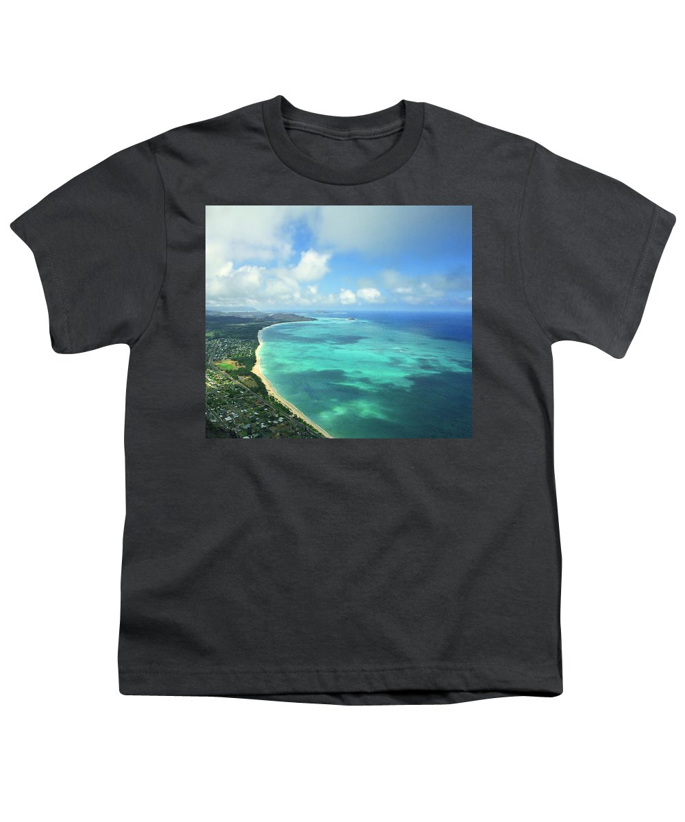 Waimanalo Youth T-Shirt featuring the photograph Waimanalo Bay by Kevin Smith