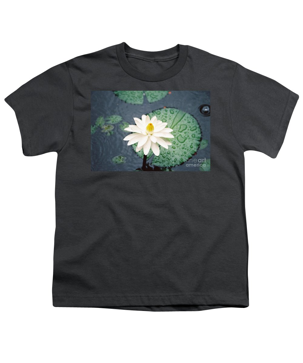Flowers Youth T-Shirt featuring the photograph Water Lily by Kathy McClure