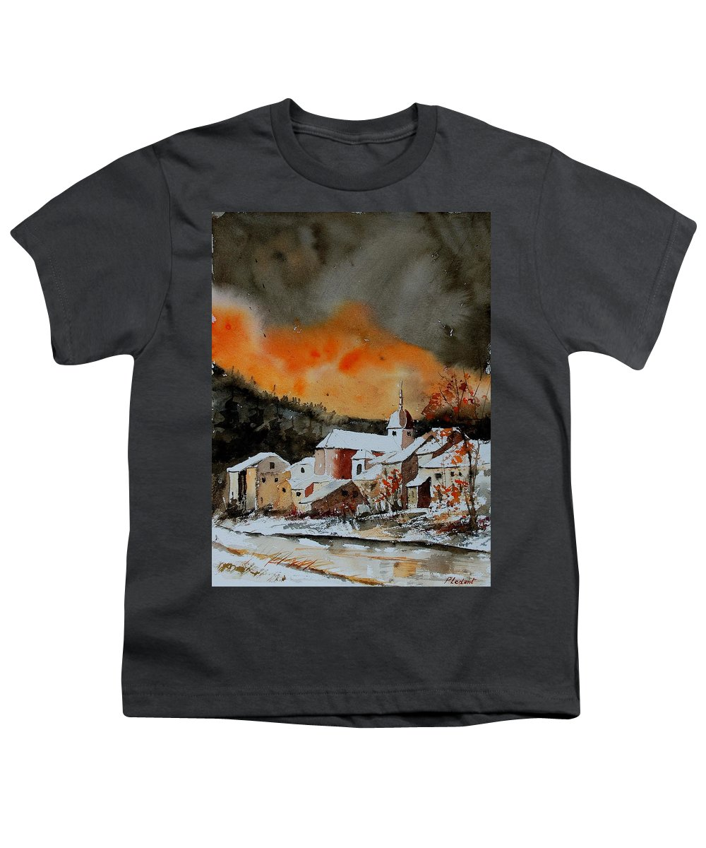Winter Youth T-Shirt featuring the painting Watercolor 050707 by Pol Ledent
