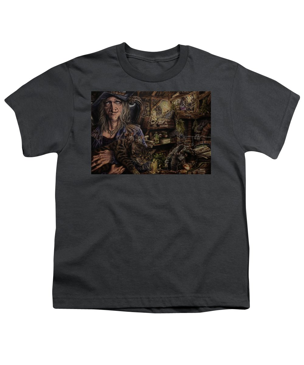 Fantasy Youth T-Shirt featuring the painting Which witch is which by Robert Haasdijk