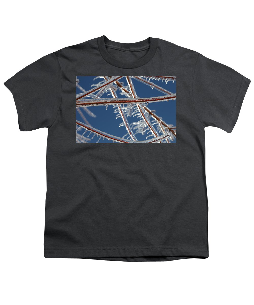 Winter Youth T-Shirt featuring the photograph Winter Blue by Nadine Rippelmeyer