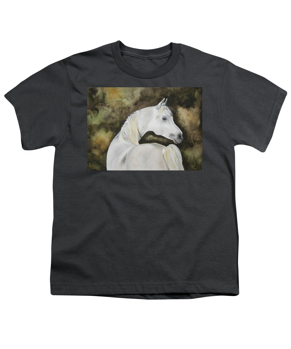 Horse Youth T-Shirt featuring the painting You Talking To Me by Jean Blackmer