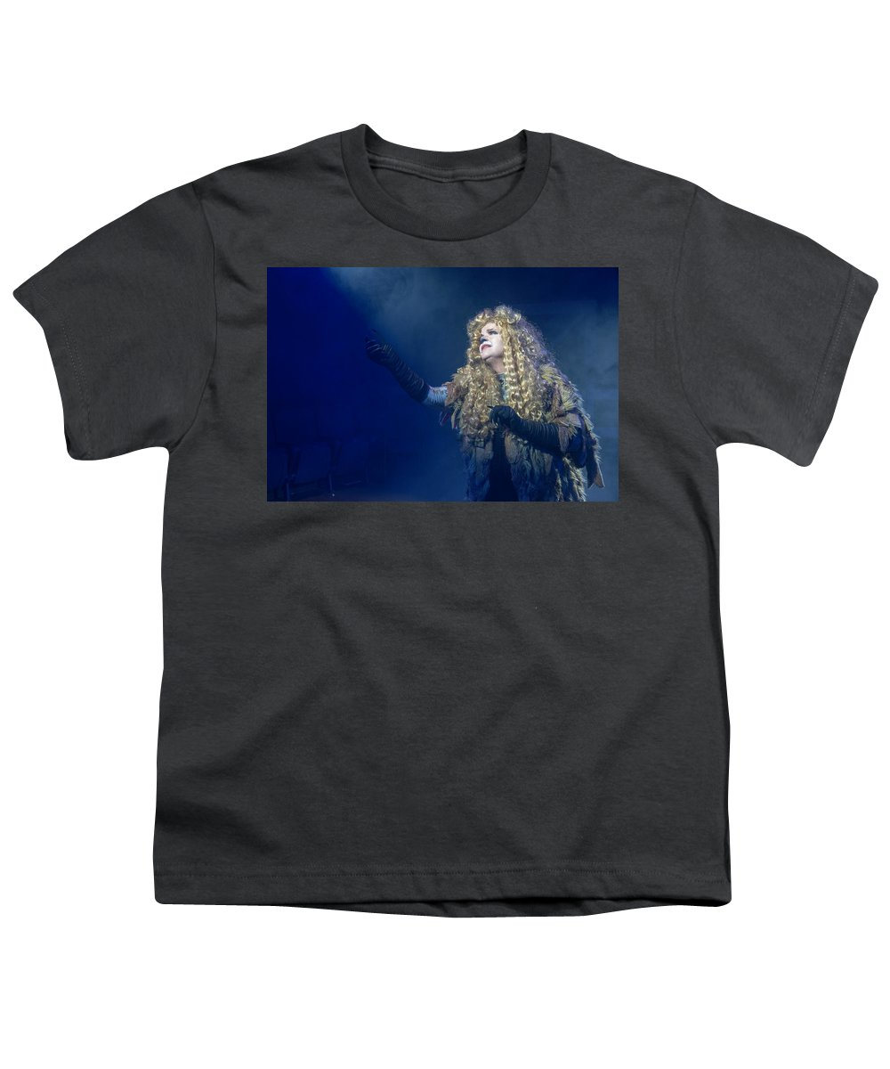 Broadway Youth T-Shirt featuring the photograph CATS Publicity image by Alan D Smith