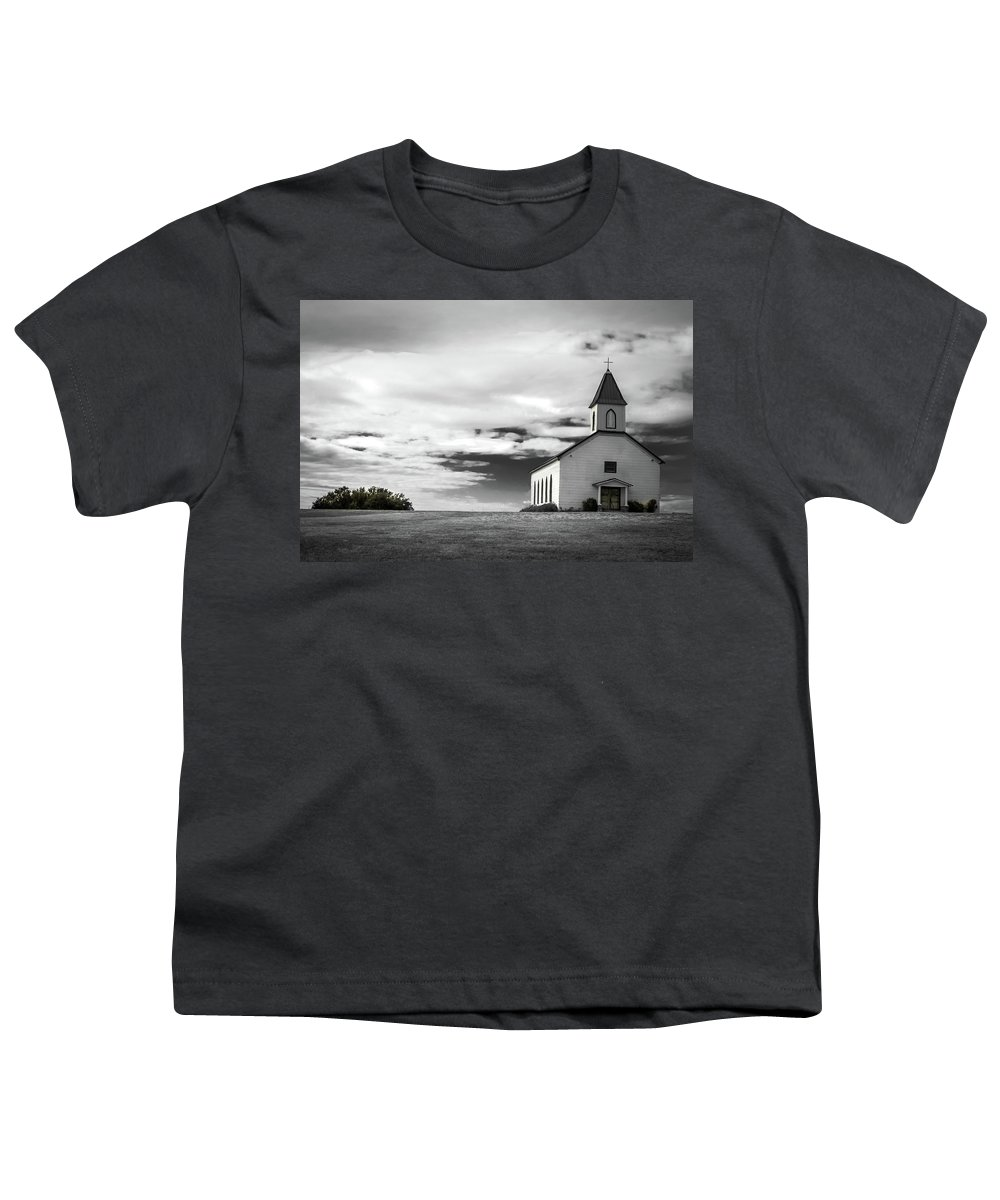 Church Youth T-Shirt featuring the photograph Old church by Peyton Vaughn
