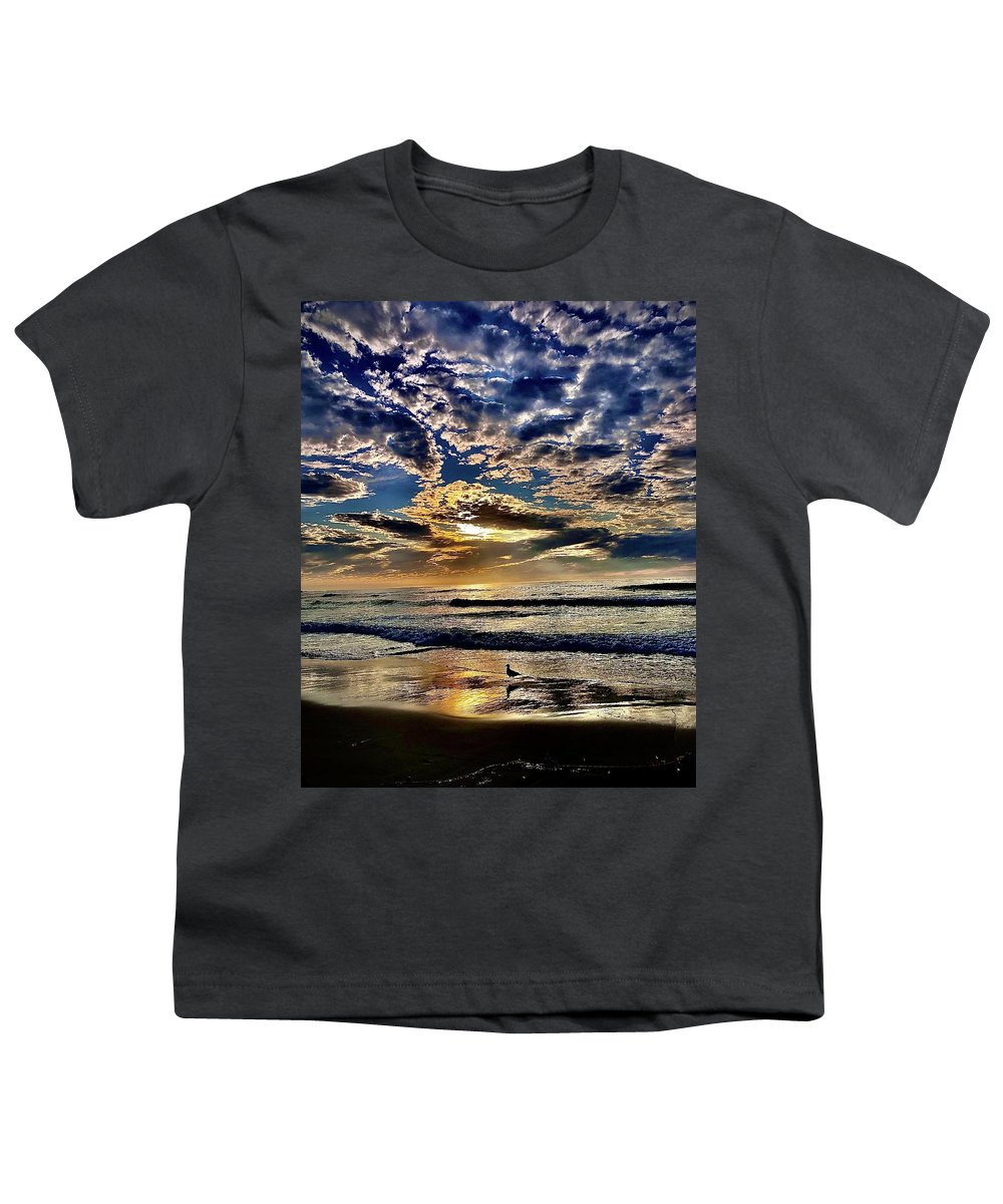 Sunsets Youth T-Shirt featuring the photograph Reflecting On The Day by Michael Klahr