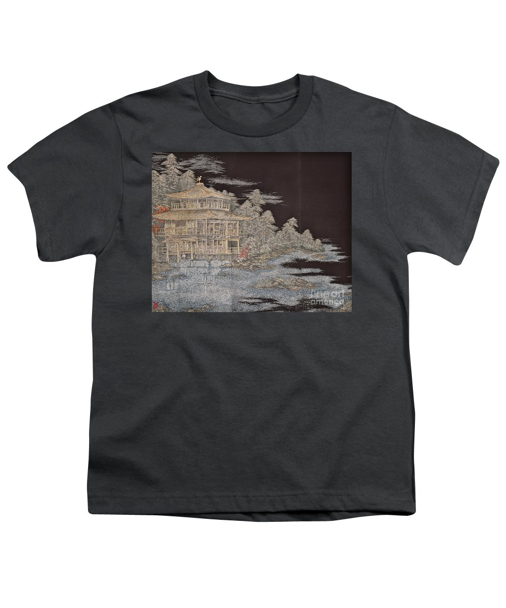 Youth T-Shirt featuring the digital art Spirit of Japan T36 by Miho Kanamori