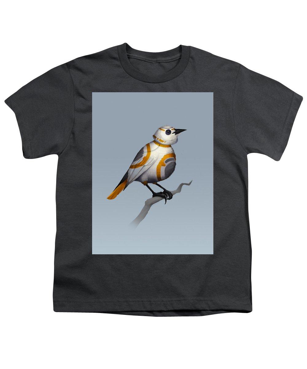 Birds Youth T-Shirt featuring the digital art BB Bird by Michael Myers
