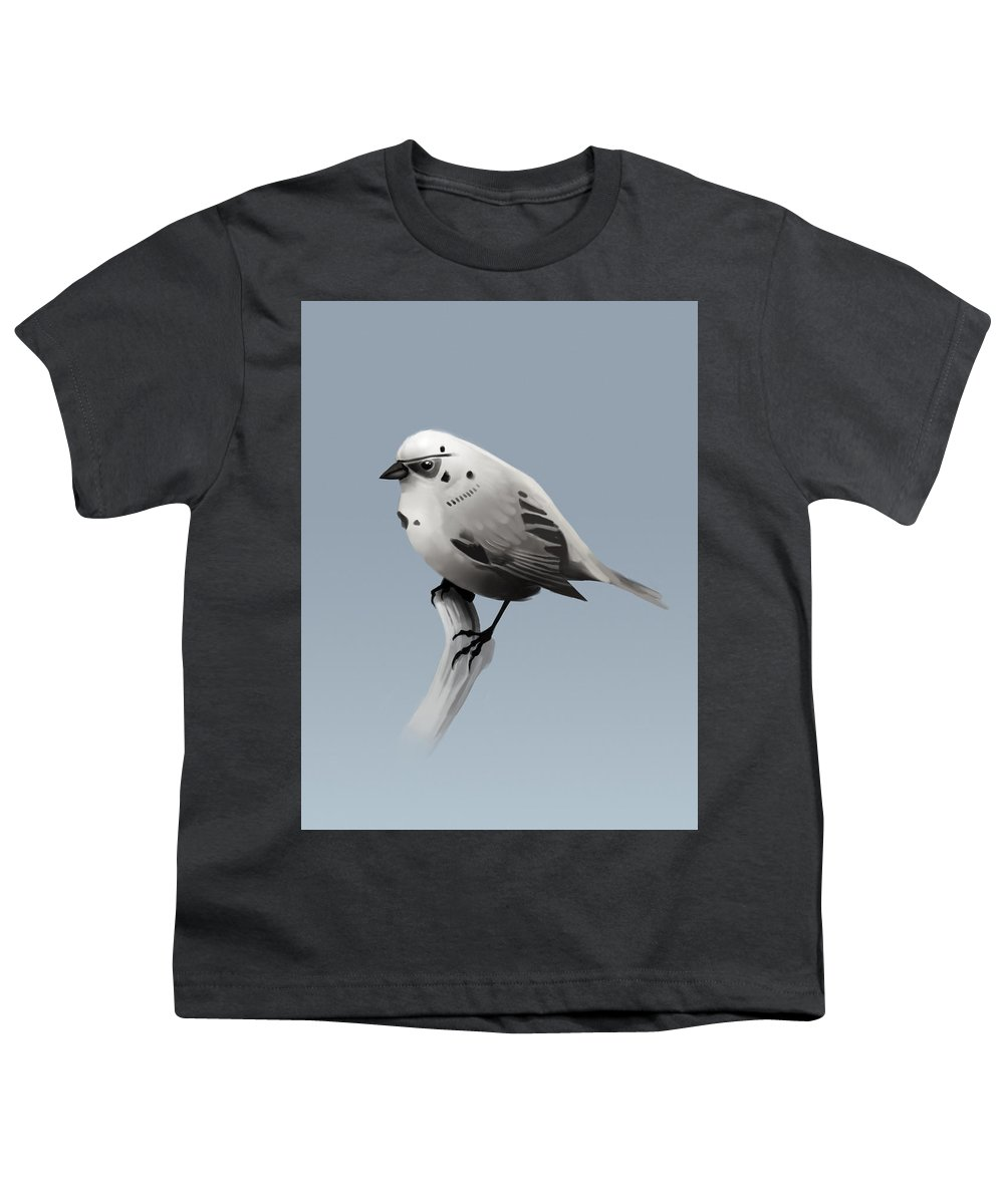 Birds Youth T-Shirt featuring the digital art Trooper Bird by Michael Myers