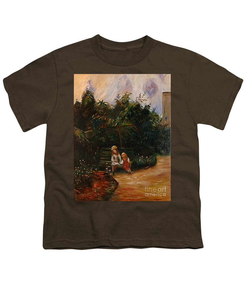 Classic Art Youth T-Shirt featuring the painting A Corner Of The Garden At The Hermitage by Silvana Abel