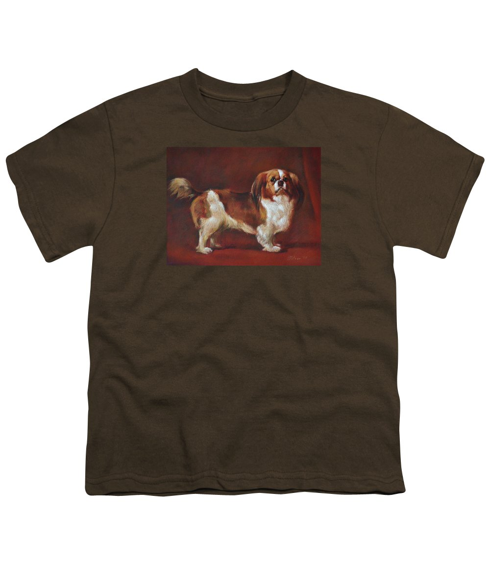 Pastel Youth T-Shirt featuring the painting A King Charles Spaniel by Iliyan Bozhanov