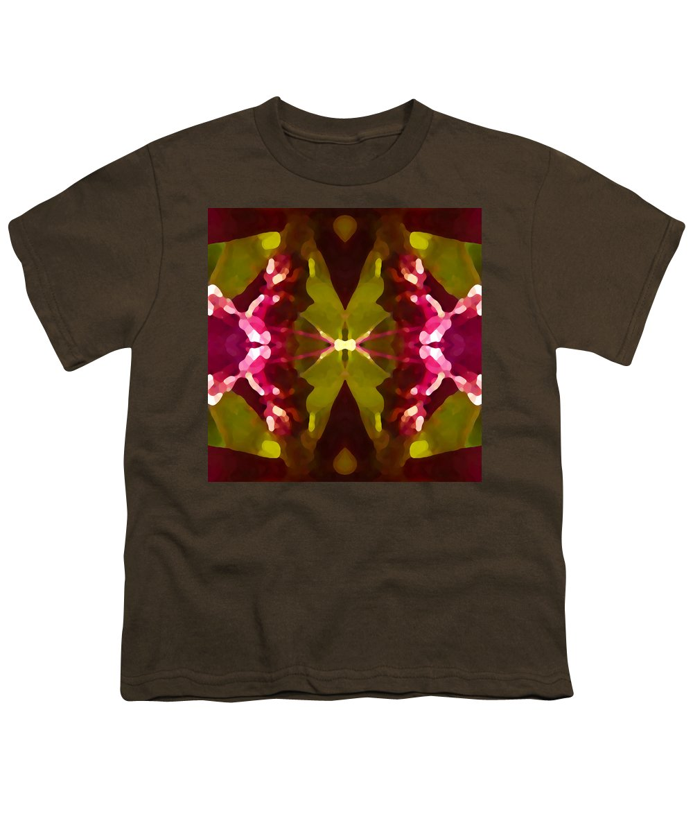Contemporary Youth T-Shirt featuring the painting Abstract Crystal Butterfly by Amy Vangsgard
