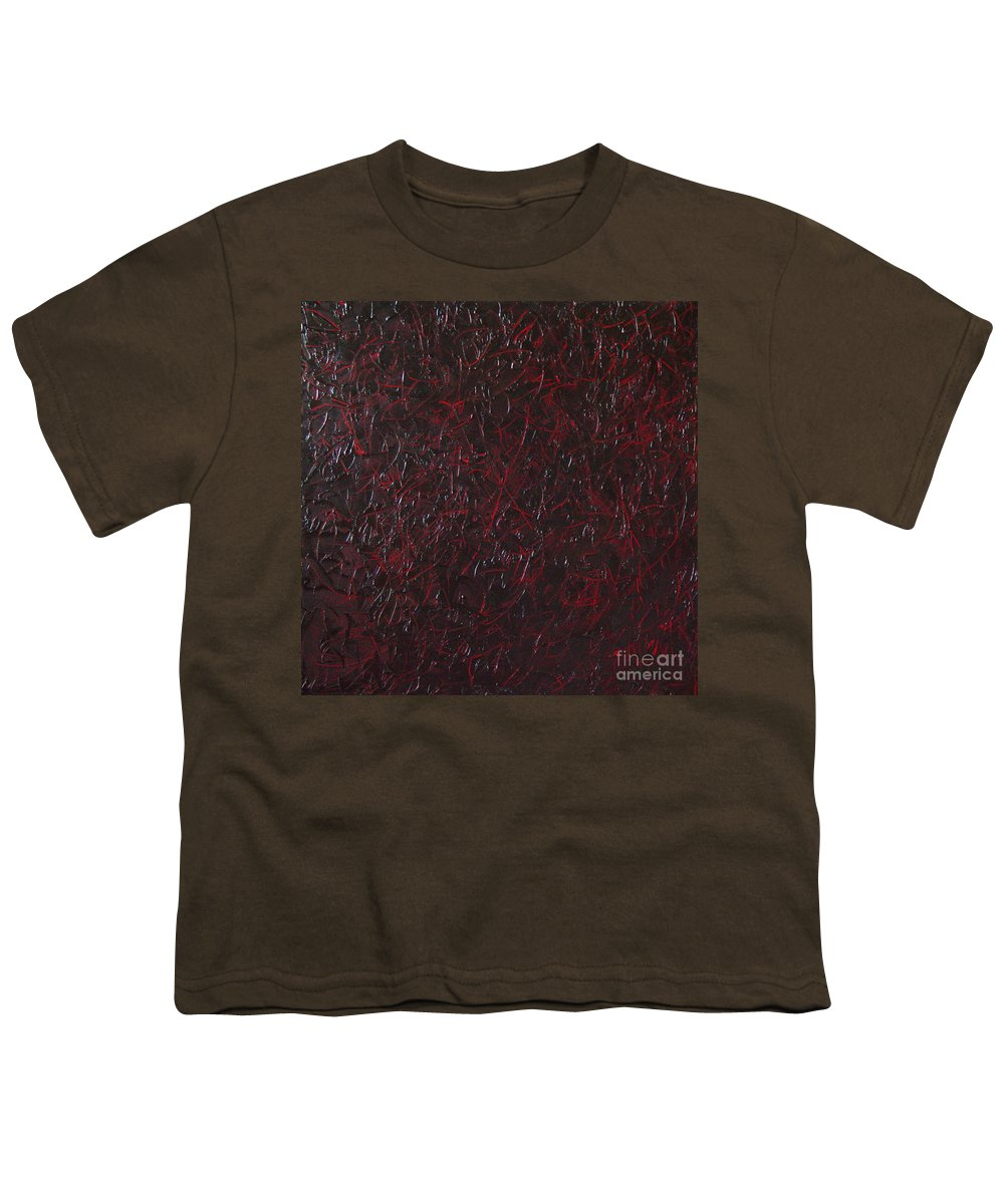 Abstract Youth T-Shirt featuring the painting Another Shedding by Dean Triolo