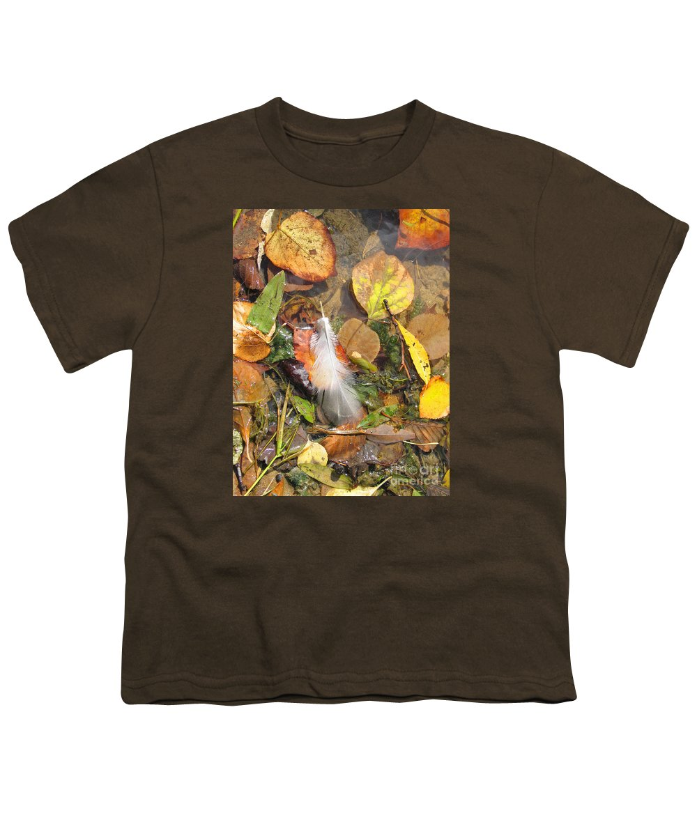 Autumn Youth T-Shirt featuring the photograph Autumn Leavings by Ann Horn