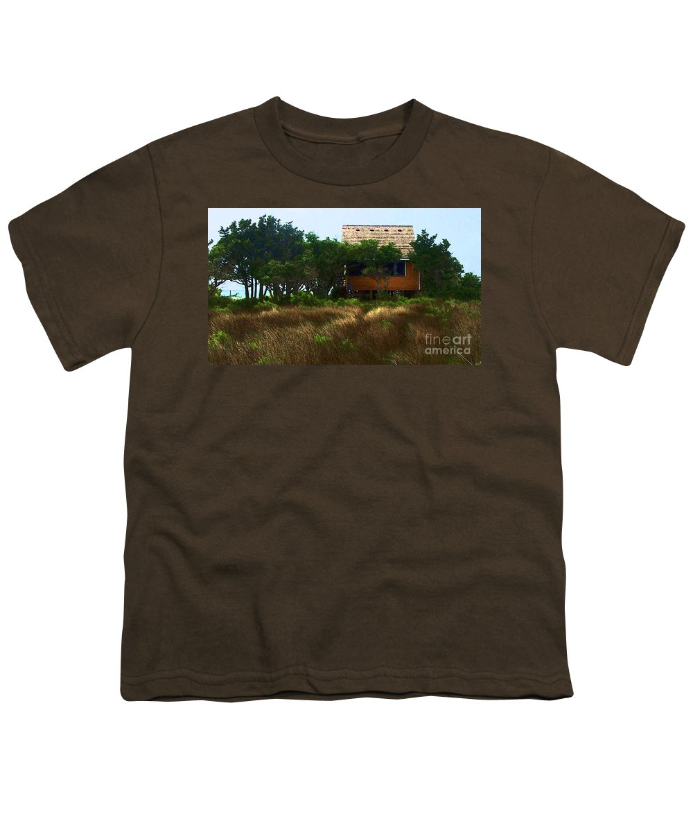 Beach Youth T-Shirt featuring the photograph Back To The Island by Debbi Granruth