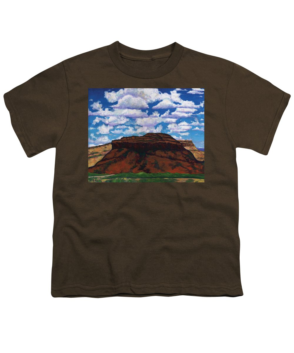 Lanscape Youth T-Shirt featuring the painting Clouds Over Red Mesa by Joe Triano