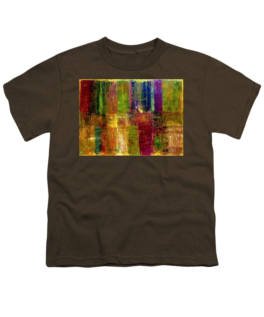 Abstract Youth T-Shirt featuring the painting Color Panel Abstract by Michelle Calkins