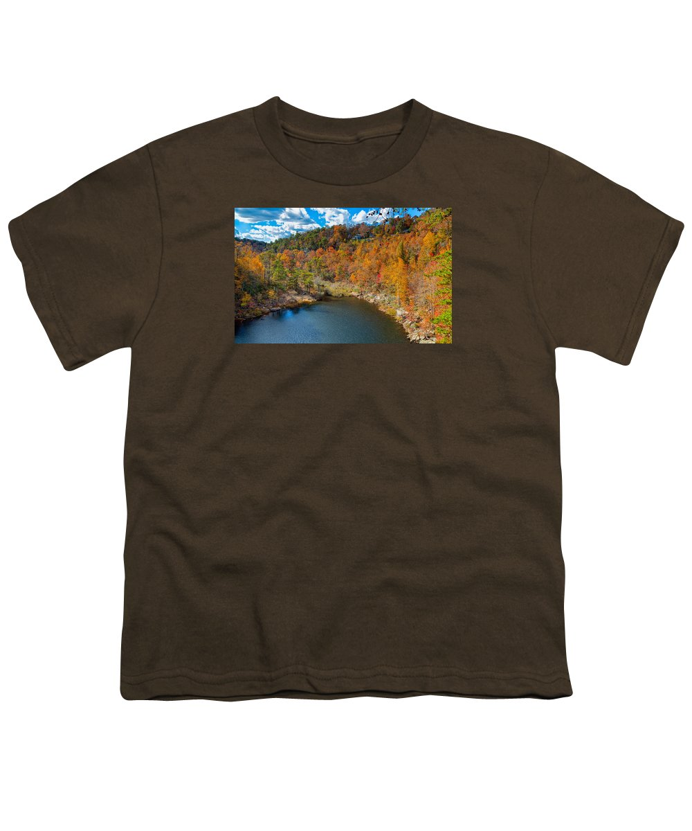 Landscape Youth T-Shirt featuring the photograph Desoto Falls State Park by John M Bailey