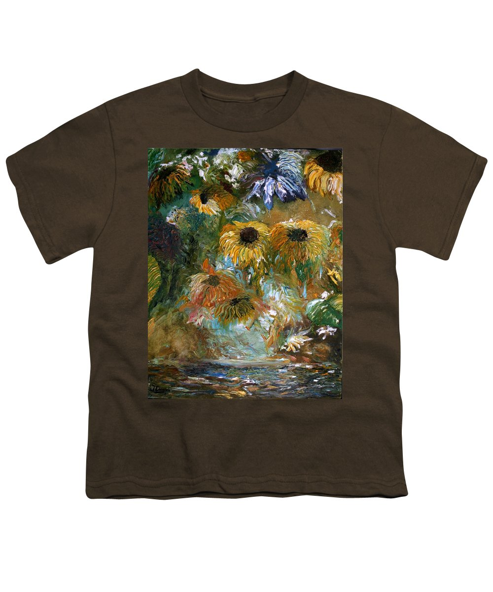 Flowers Youth T-Shirt featuring the painting Flower Rain by Jack Diamond