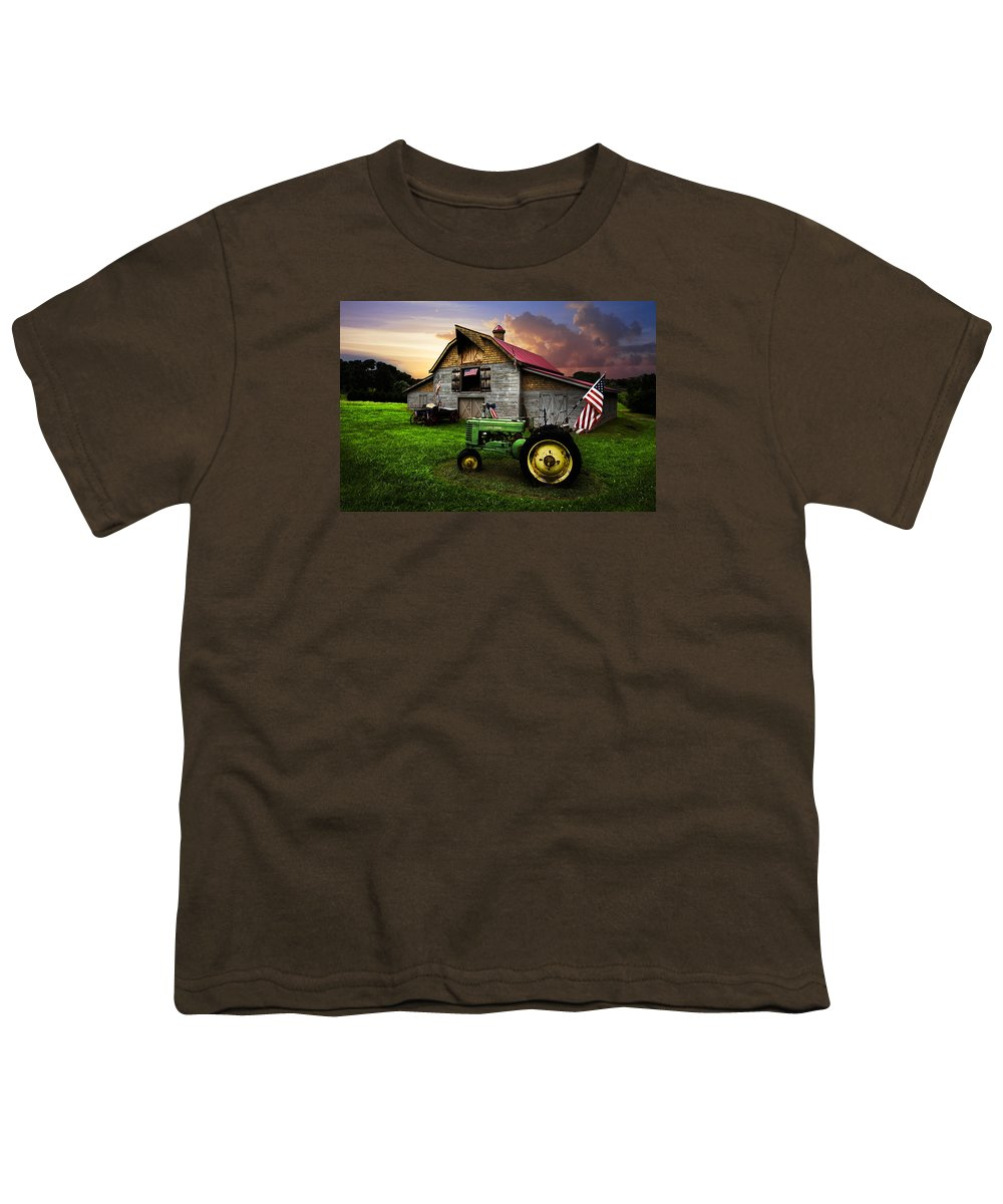 American Youth T-Shirt featuring the photograph God Bless America by Debra and Dave Vanderlaan