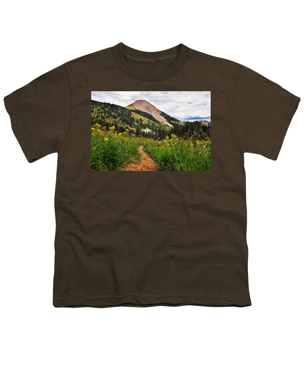 3scape Youth T-Shirt featuring the photograph Hiking In La Sal by Adam Romanowicz