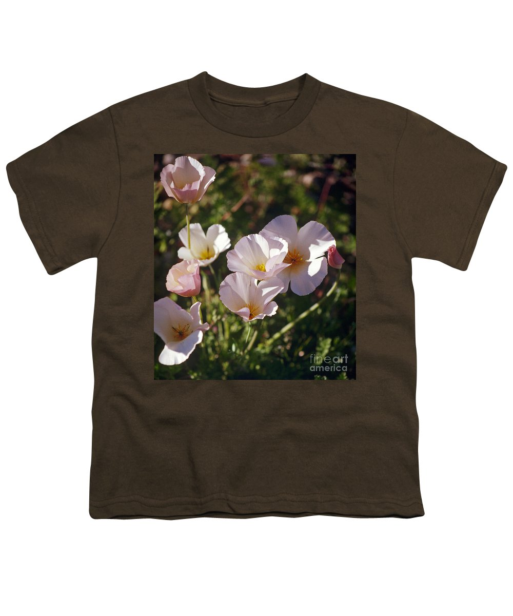 Flowers Youth T-Shirt featuring the photograph Icelandic Poppies by Kathy McClure