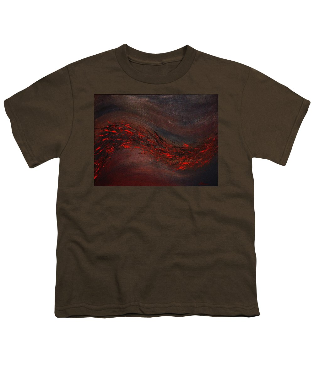 Acrylic Youth T-Shirt featuring the painting Into The Night by Todd Hoover