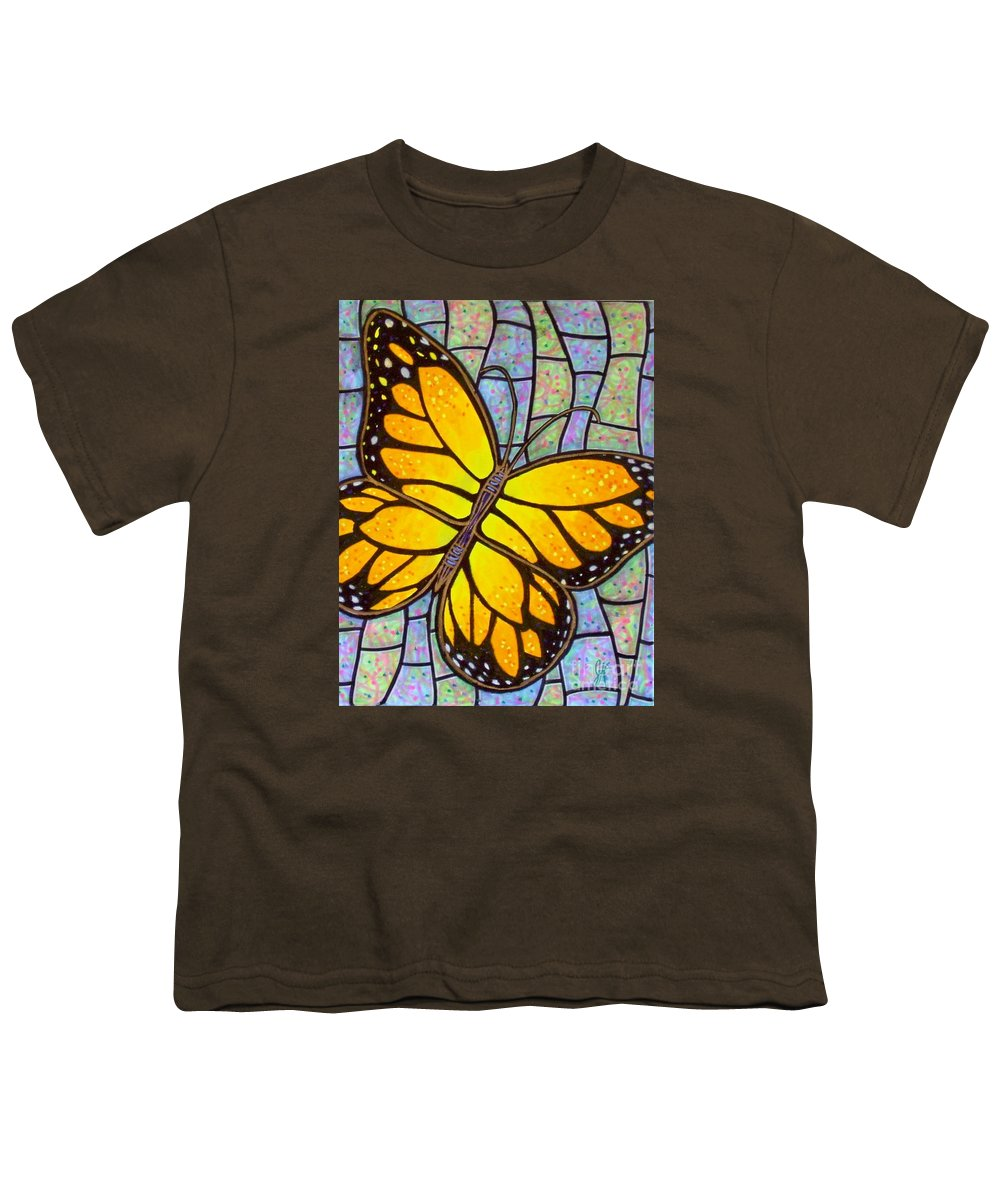 Butterflies Youth T-Shirt featuring the painting Karens Butterfly by Jim Harris