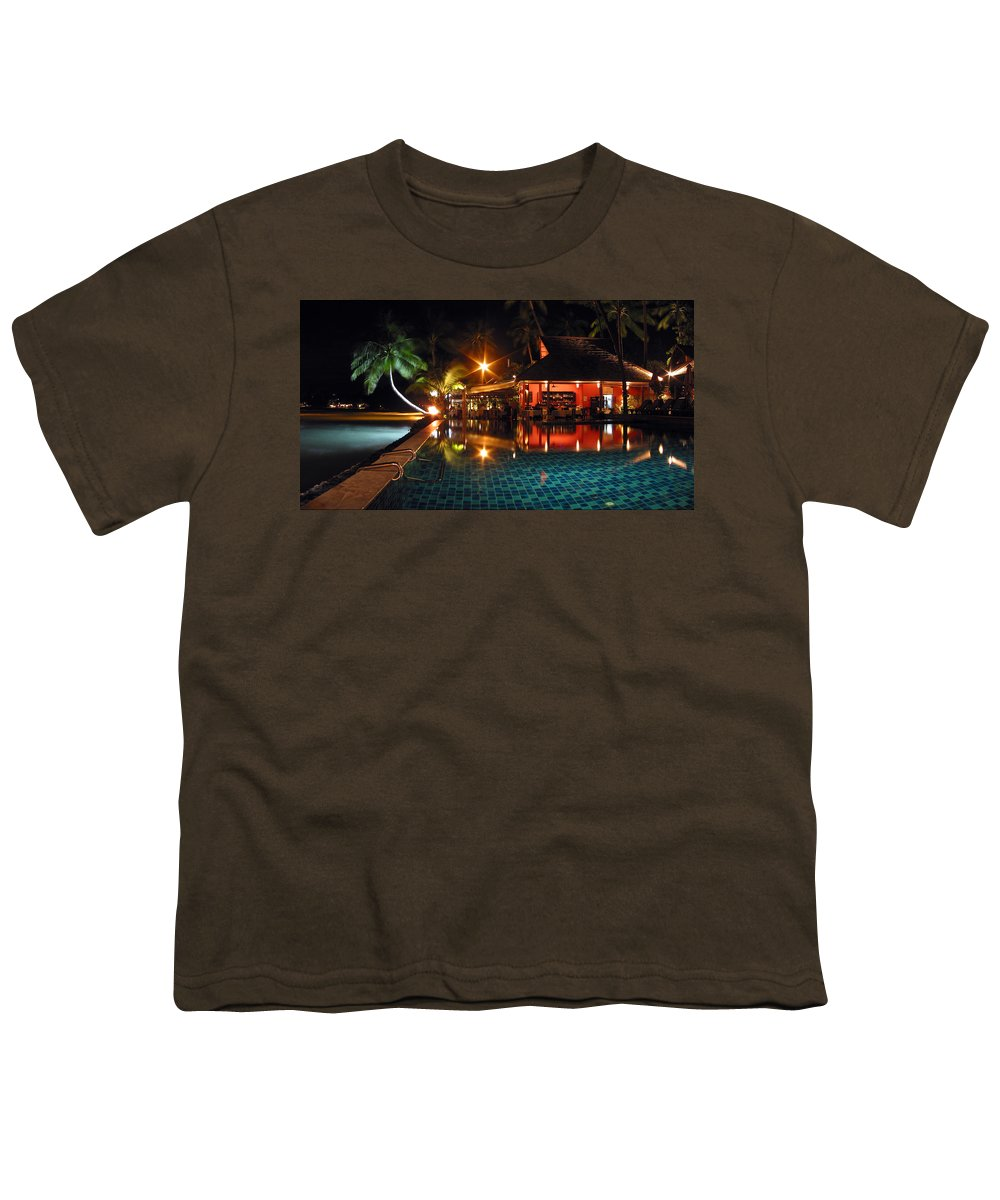 3scape Youth T-Shirt featuring the photograph Koh Samui Beach Resort by Adam Romanowicz