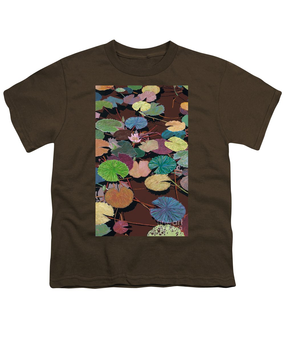 Landscape Youth T-Shirt featuring the painting Muddy Waters by Allan P Friedlander