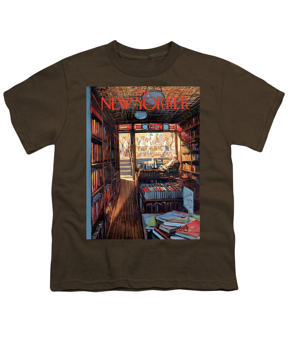 Arthur Getz Agt Youth T-Shirt featuring the painting New Yorker July 20th, 1957 by Arthur Getz