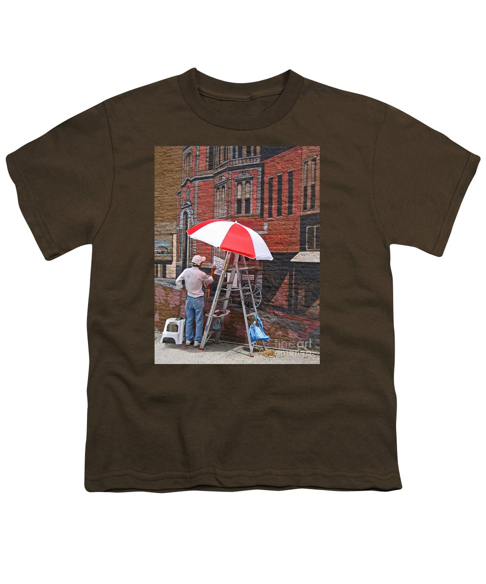 Artist Youth T-Shirt featuring the photograph Painting The Past by Ann Horn