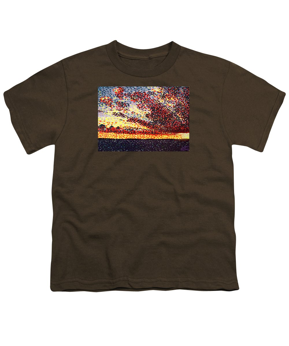 Plum Clouds Youth T-Shirt featuring the painting Plum Clouds by Alan Hogan