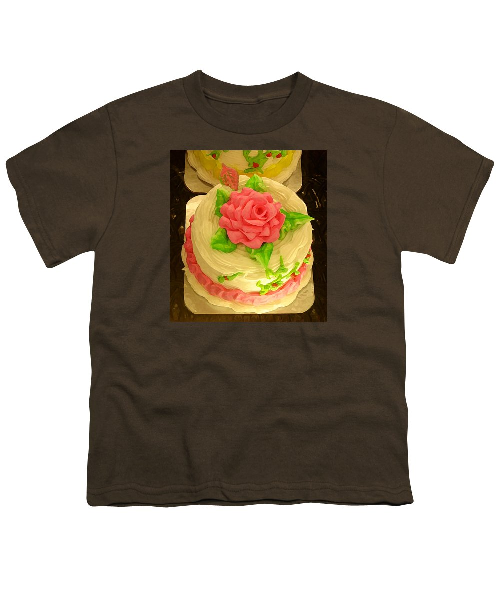Food Youth T-Shirt featuring the painting Rose Cakes by Amy Vangsgard