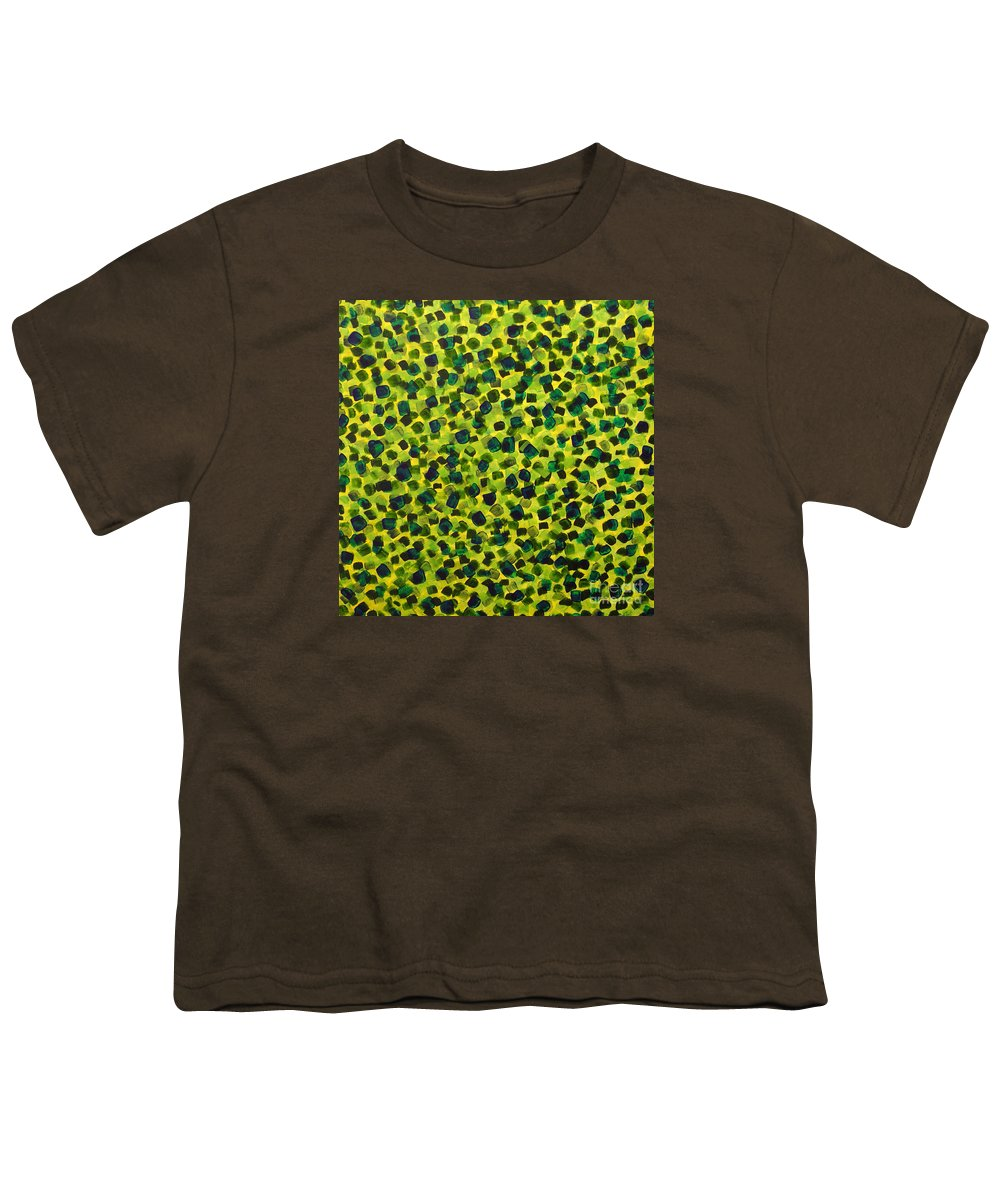 Abstract Youth T-Shirt featuring the painting Sunlight Through The Trees 2 by Dean Triolo