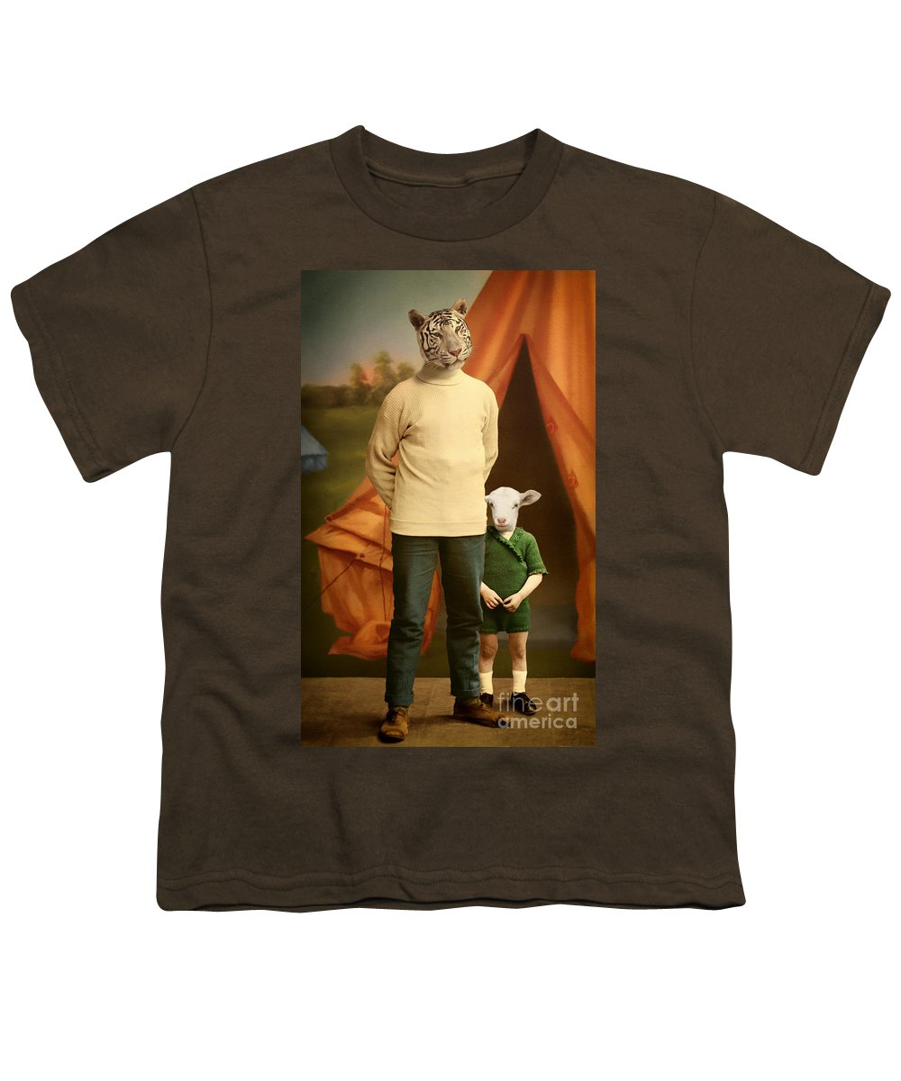 Tiger Youth T-Shirt featuring the photograph Summer Camp by Martine Roch