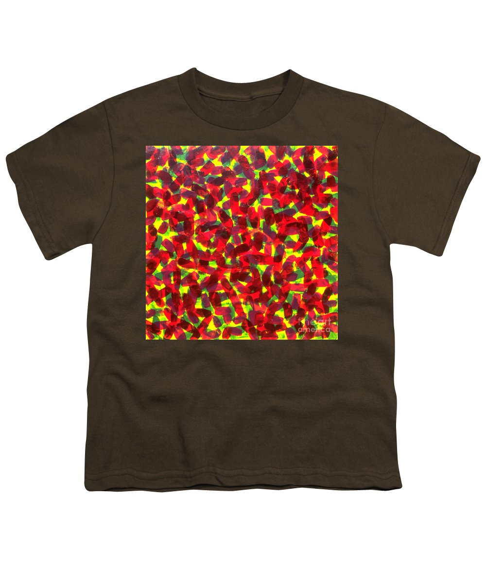 Abstract Youth T-Shirt featuring the painting Sunlight Through The Trees by Dean Triolo